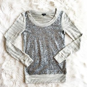 J. Crew Collection Jaspe Sequin Top h613